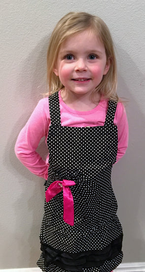 Kid's Black Polka Dot Apron