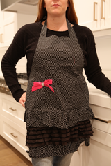 Women's Black Polka Dot Apron