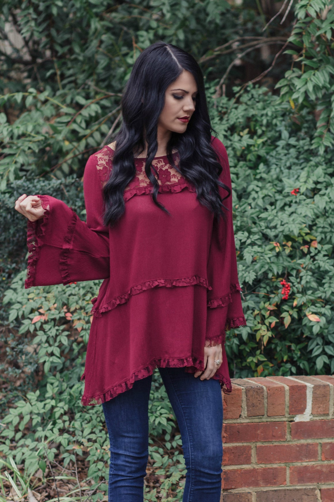 Burgundy Love Top