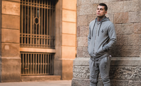Mens tracksuit in grey