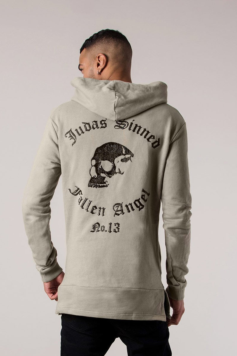 Judas Sinned Angel Sniper Men's Hoodie - Taupe - Judas Sinned Clothing