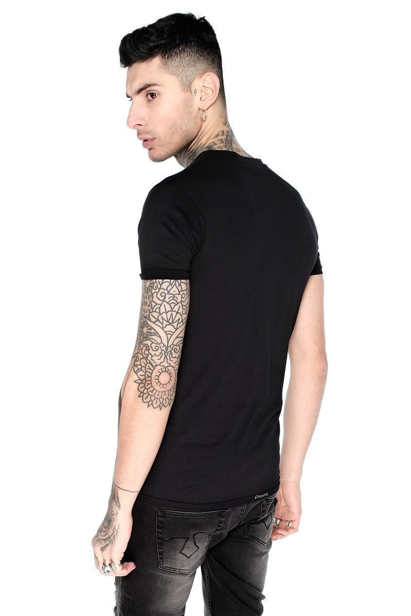 Judas Sinned Basic Men's Crew Neck T-Shirt - Black - Judas Sinned Clothing