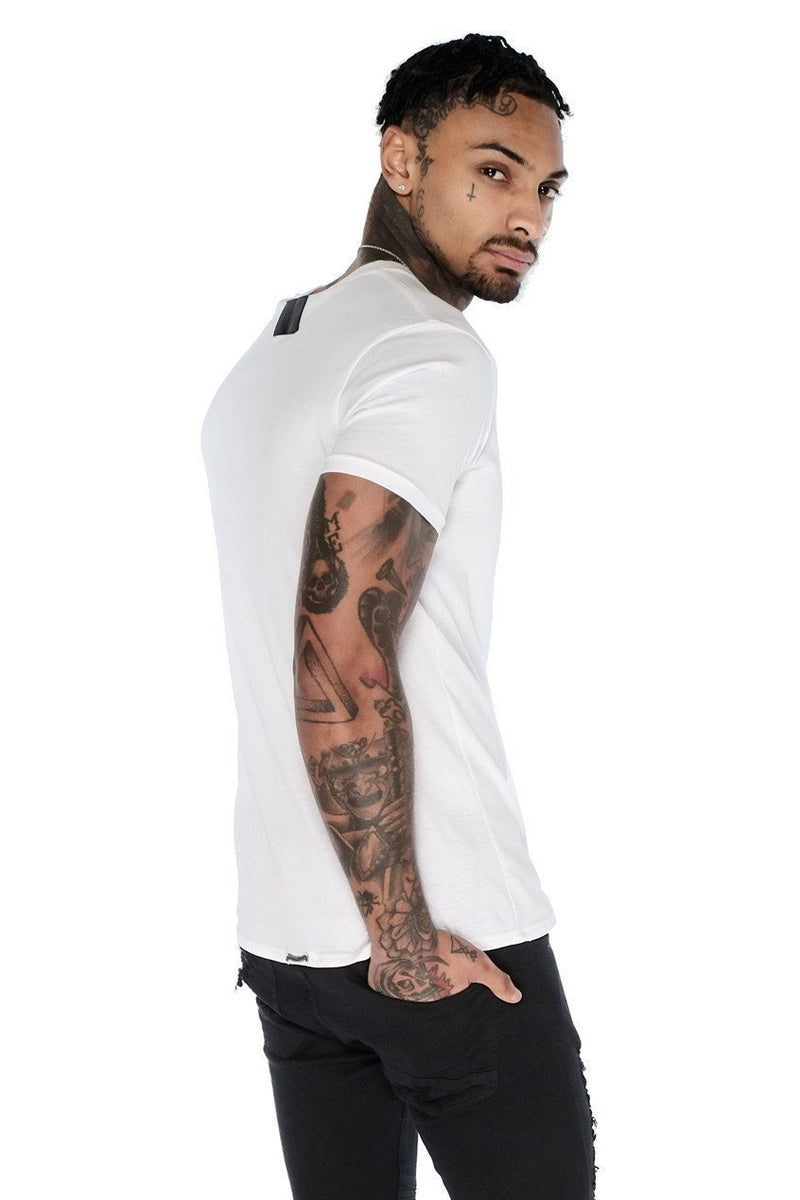 Judas Sinned Basic Men's Crew Neck T-Shirt - White - Judas Sinned Clothing