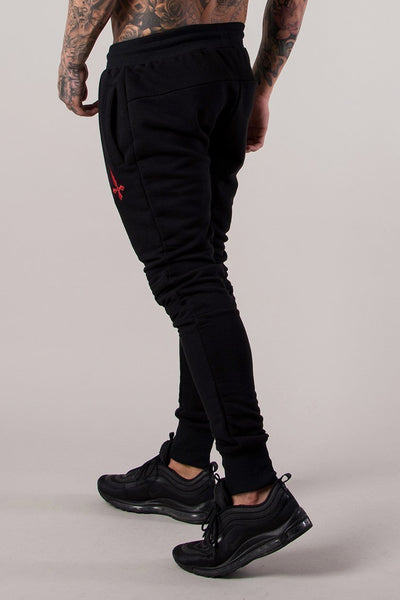 Judas Sinned Bench Men's Joggers / Jogging Bottoms - Black - Judas Sinned Clothing