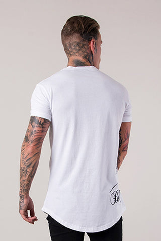 Mens Judas Sinned Betrayed Crystal Curved Hem Men's T-Shirt - White (T-SHIRT) - Judas Sinned Clothing