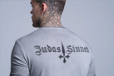 Judas Sinned Brand Carrier Men's T-Shirt - Grey - Judas Sinned Clothing