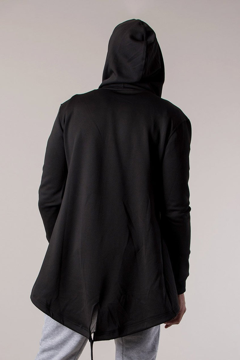Judas Sinned Cape Longline Scuba Men's Hoodie - Black - Judas Sinned Clothing