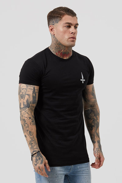 Mens Judas Sinned Crossed Print Men's T-Shirt - Black (T-Shirts) - Judas Sinned Clothing
