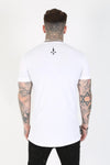 Judas Sinned Edge Crystal Skull T-Shirt - White - Judas Sinned Clothing