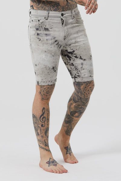 Mens Judas Sinned Electric Denim Men's Shorts - Electric Wash (Shorts) - Judas Sinned Clothing