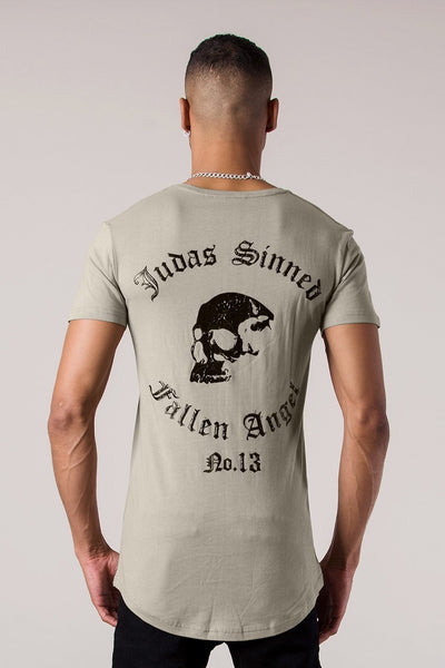 Mens Judas Sinned Fallen Angel Print Men's T-Shirt - Plaza Taupe (T-Shirts) - Judas Sinned Clothing