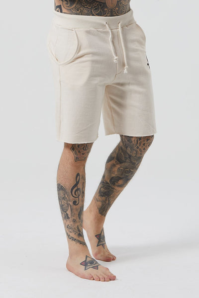 Mens Judas Sinned Grind Cut Hem Wide Men's Shorts - Jet Stream (Shorts) - Judas Sinned Clothing