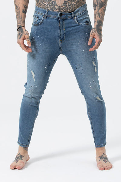 Judas Sinned Joey Men's Skinny Fit Jeans - Blue Wash - Judas Sinned Clothing