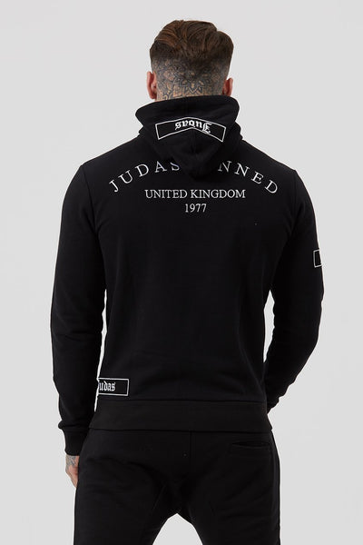 Judas Sinned Lounge Embroidery Tracksuit Men's Hoodie - Black - Judas Sinned Clothing