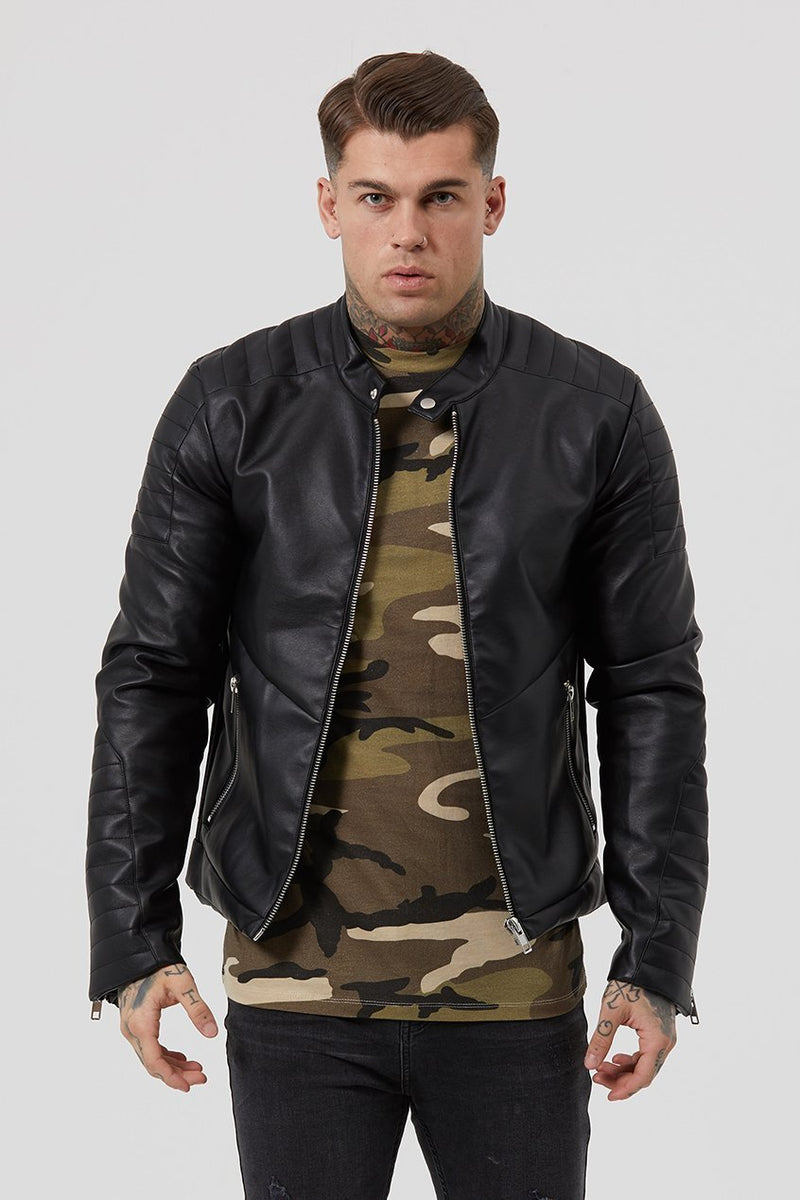 Judas Sinned Men's Biker Jacket - Black - Judas Sinned Clothing