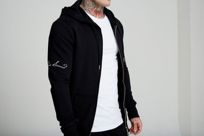 Judas Sinned Zip Thru Tracksuit Men's Hoodie - Black - Judas Sinned Clothing