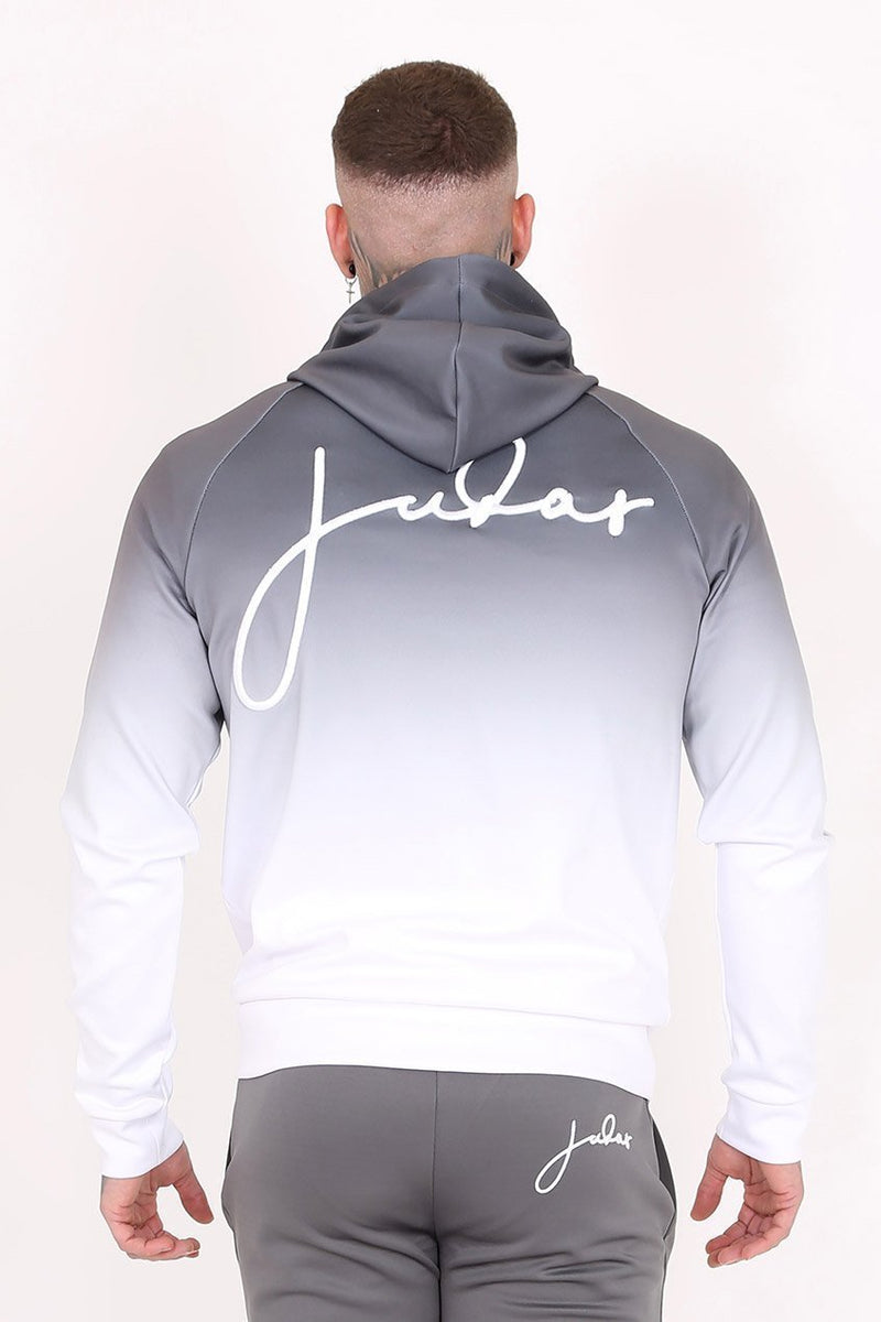 Mens Judas Sinned Midnight Dip Dye Embroidery Men's Hoodie - Grey (Hoodies) - Judas Sinned Clothing