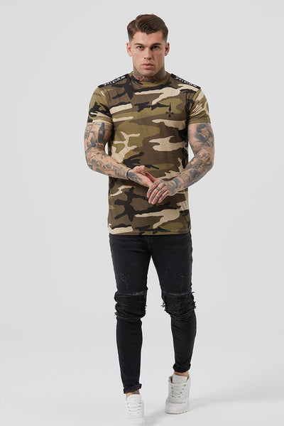 Judas Sinned Mil Crystal Badge Men's T-Shirt - Camouflage - Judas Sinned Clothing