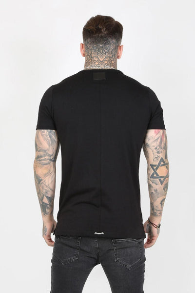Judas Sinned Mission Double Zip Utility Pocket Military Men's T-Shirt - Black - Judas Sinned Clothing