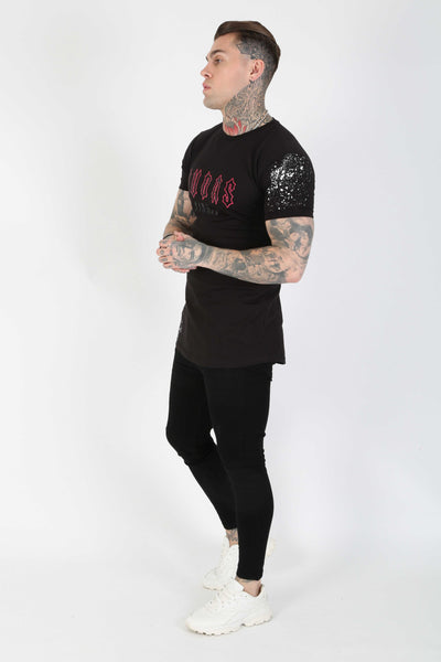 Judas Sinned Neo Crystal Print T-Shirt - Black - Judas Sinned Clothing
