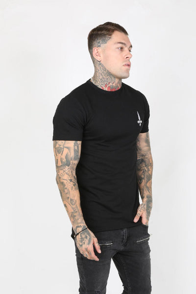 Judas Sinned Parka Hem Men's T-Shirt - Black - Judas Sinned Clothing