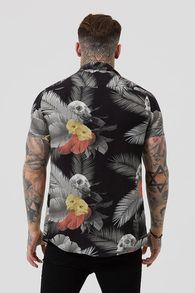 Mens Judas Sinned Res Tropical Resort Men's Shirt - Black (Shirts) - Judas Sinned Clothing