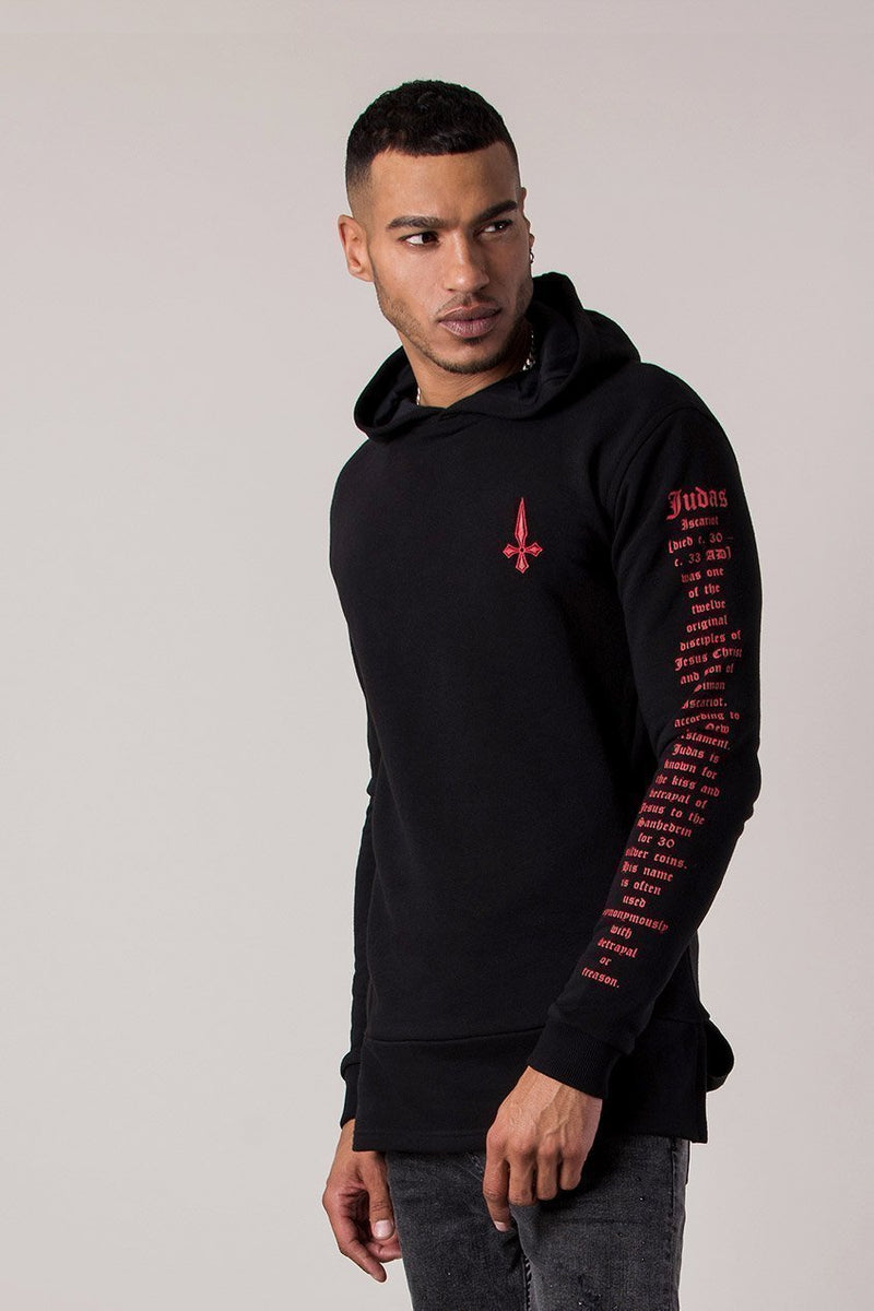 Judas Sinned Script Sniper Men's Hoodie - Black - Judas Sinned Clothing
