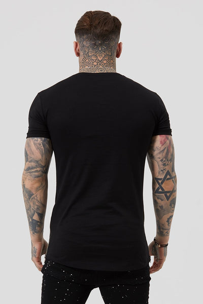 Judas Sinned Side Zip Men's T-Shirt - Black - Judas Sinned Clothing