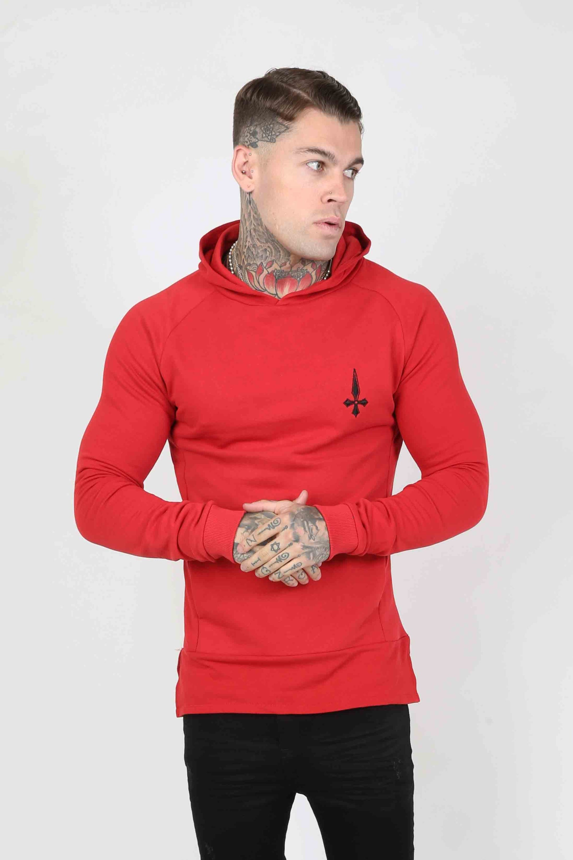 Judas Sinned Sniper Men's Hoodie - Red - Judas Sinned Clothing