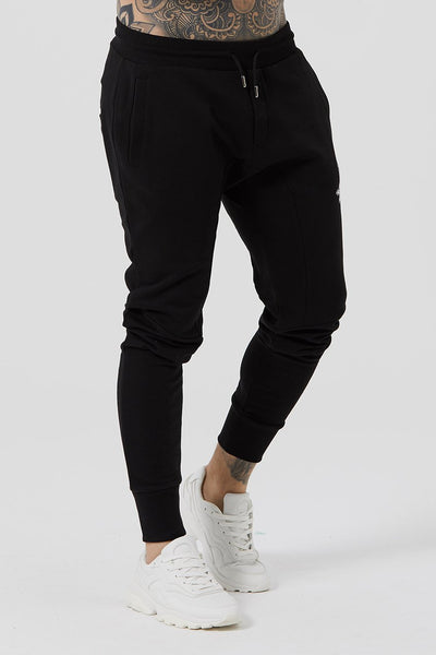Judas Sinned Stream Jersey Men's Joggers / Jogging Bottoms - Black - Judas Sinned Clothing