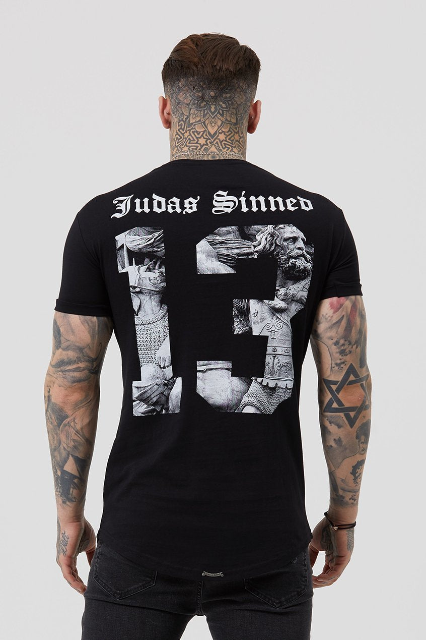 Judas Sinned Team Back Photo 13 Men's T-Shirt - Black - Judas Sinned Clothing