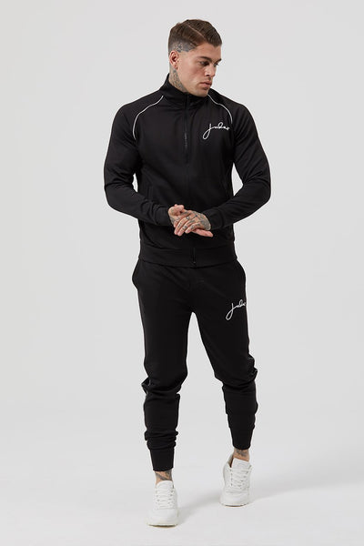 Judas Sinned Thru Signature Zipped Men's Track Suit Top - Black - Judas Sinned Clothing