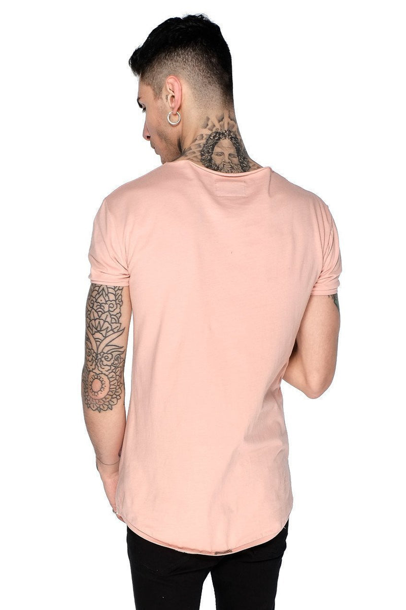 Judas Sinned Training Men's Crew Neck T-Shirt - Dusty Pink - Judas Sinned Clothing