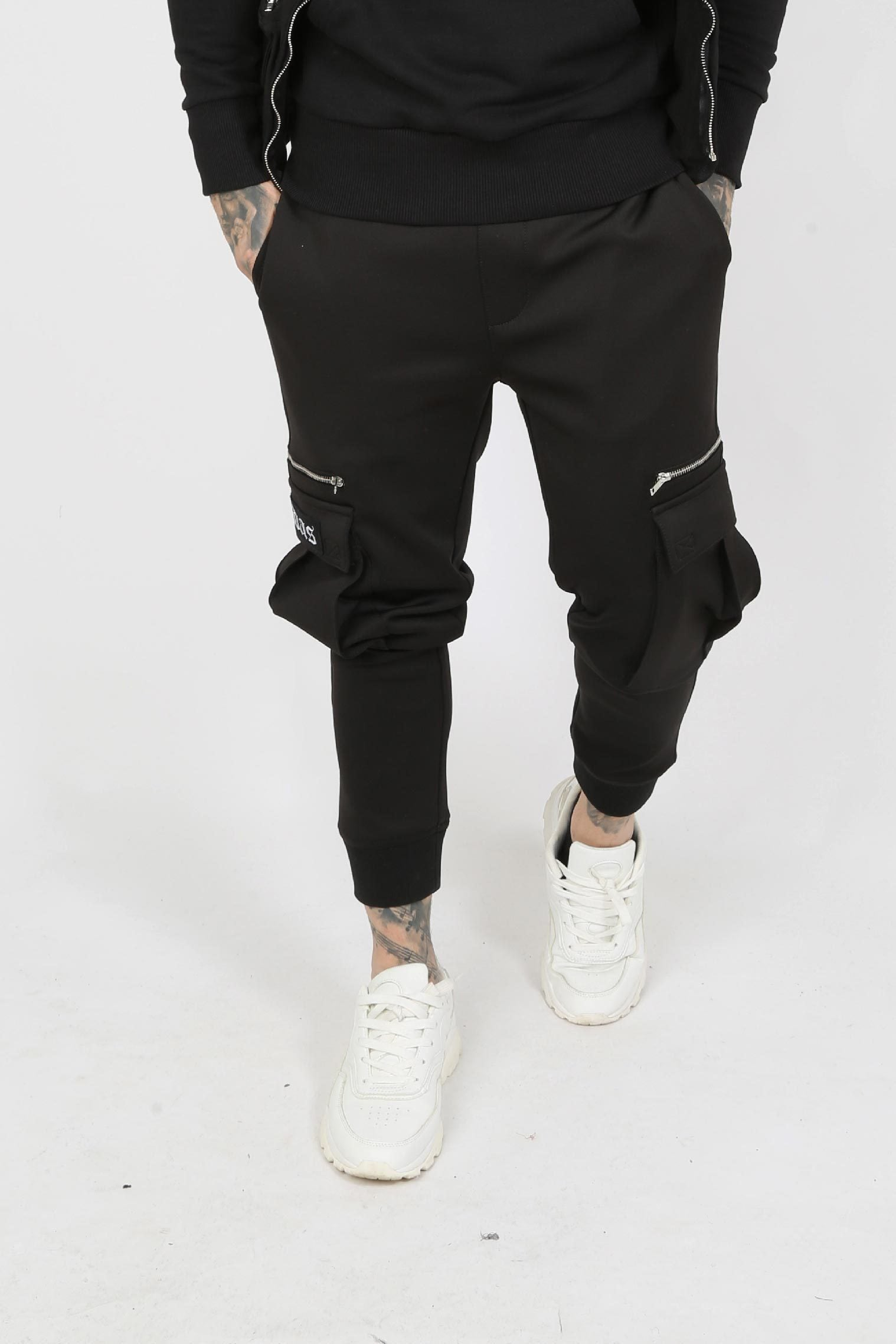 Judas Sinned Urba Cargo Utility Men's Joggers - Black - Judas Sinned Clothing