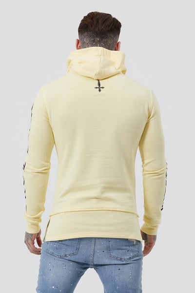 Mens Judas Sinned XVII Embroidery Text Men's Hoodie - Yellow (Hoodies) - Judas Sinned Clothing