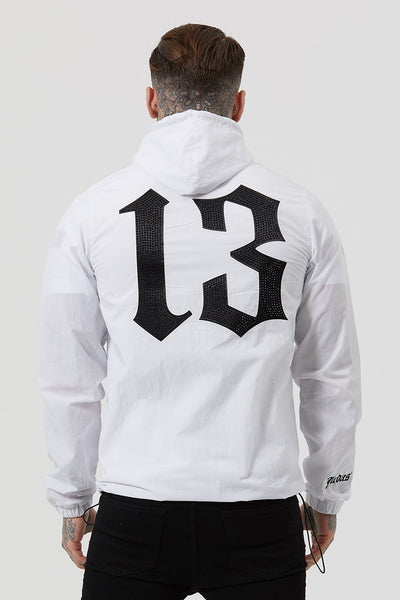 Judas Sinned Yee Nylon Shell Men's Hoodie - White - Judas Sinned Clothing