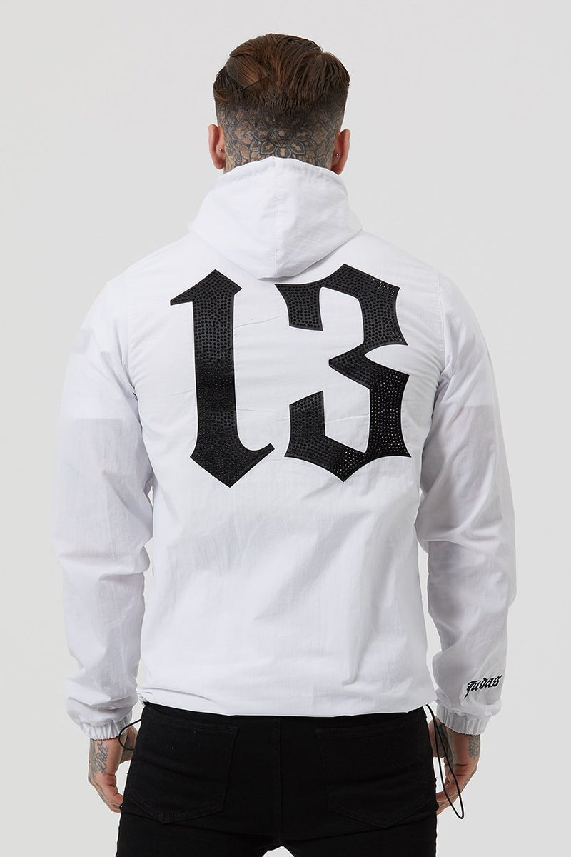 Mens Judas Sinned Yee Nylon Shell Men's Hoodie - White (Hoodies) - Judas Sinned Clothing