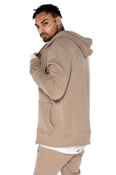 Judas Sinned Zip Thru Tracksuit Men's Hoodie - Caramel - Judas Sinned Clothing