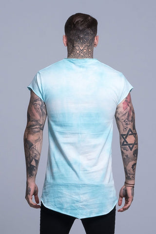 Mens Judas Sinned Printed Indian Tie Dye Grunge Men's T-Shirt - Blue (T-SHIRT) - Judas Sinned Clothing