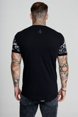Mens Judas Sinned All Over Skull Print Men's T-Shirt - Black (T-SHIRT) - Judas Sinned Clothing