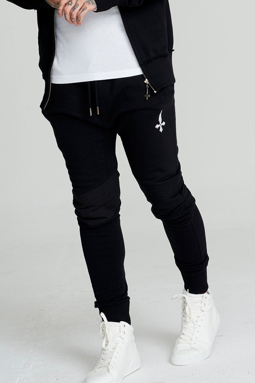 Judas Sinned Asphalt Biker Tracksuit Men's Joggers / Jogging Bottoms - Black - Judas Sinned Clothing
