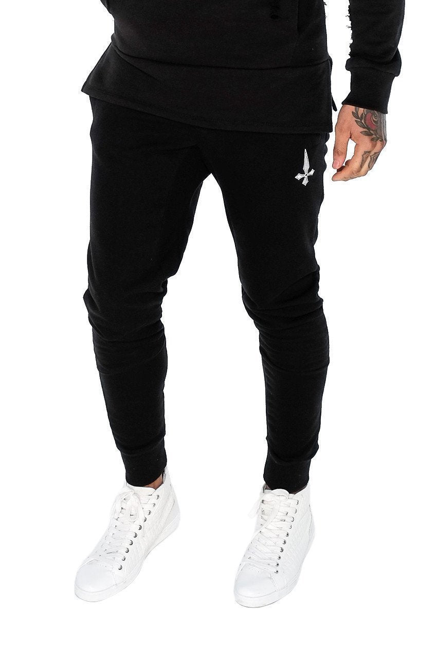 Mens Judas Sinned Core Men's Joggers / Jogging Bottoms - Black (JOGGERS) - Judas Sinned Clothing