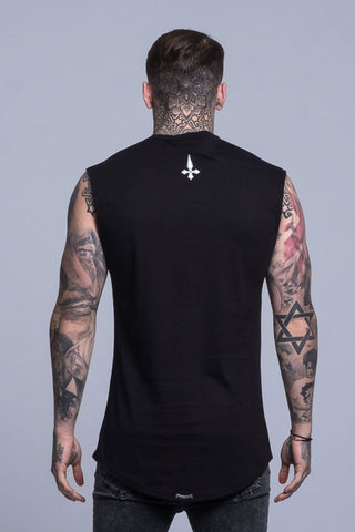 Mens Judas Sinned Dark Cut Off Logo T-Shirt - Black (T-SHIRT) - Judas Sinned Clothing