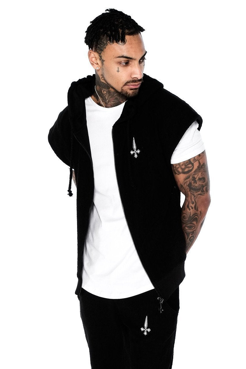 Judas Sinned Clothing HOODIE Small / Black Judas Sinned Mens Reverse Gym Hoodie in Black