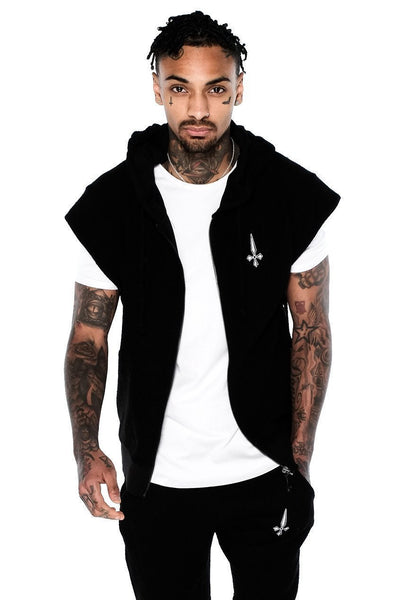 Judas Sinned Reverse Gym Men's Hoodie - Black - Judas Sinned Clothing