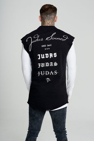 Mens Judas Sinned Signature Cut Off Men's Sweatshirt - Black (SWEAT) - Judas Sinned Clothing
