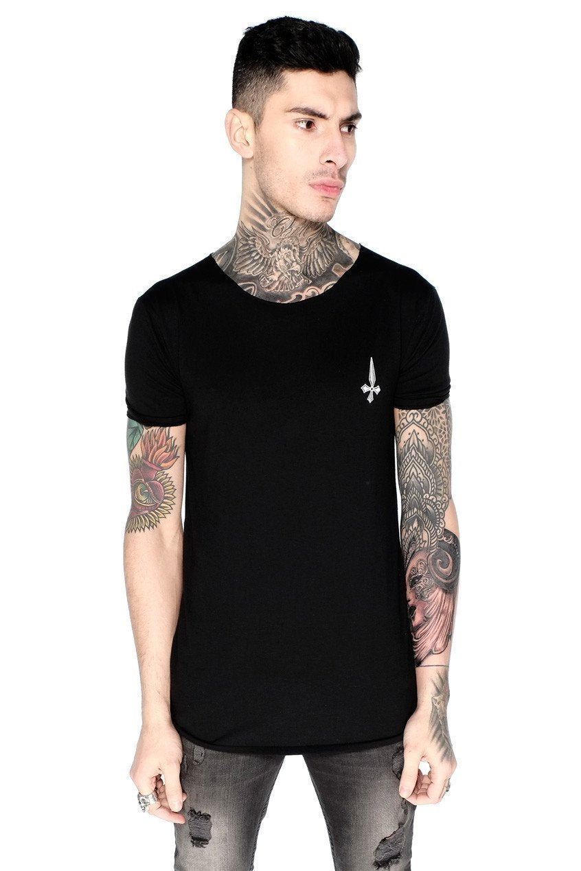 Judas Sinned Training Men's Crew Neck T-Shirt - Black - Judas Sinned Clothing
