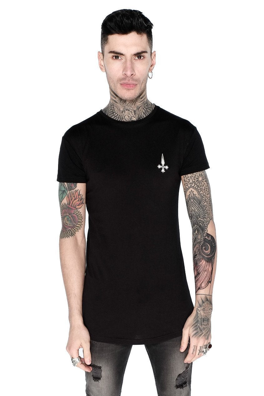 Mens Judas Sinned World Tour Crystal Men's T-Shirt - Black (T-SHIRT) - Judas Sinned Clothing