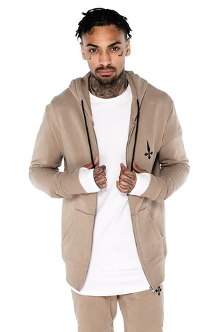 Judas Sinned Men's Sig Tracksuit Hoodie - Grey Marl