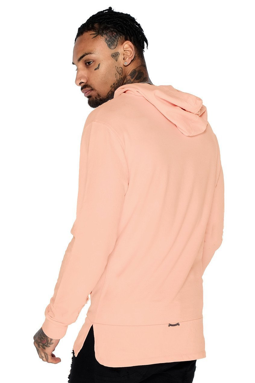 Mens Judas Sinned Core Panel Hoodie - Dusty Pink (HOODIE) - Judas Sinned Clothing